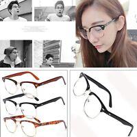 Women's Fashion Retro Clear Lens Glasses Designer Vintage Half Frame Eyewear