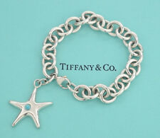 TIFFANY&Co Starfish Turquoise Charm Bracelet Silver 925 Bangle #2226