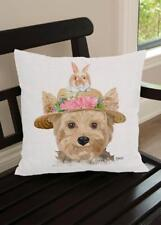 Pillow Yorkie Yorkshire Terrier Dog Artist Designed Made in USA