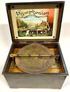 Antique Germany Breveté Symphonion Music Box #263854 With Disc Working
