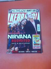 NIRVANA Reunion 12 Pages Kerrang Mag 20/10/18 Evanescence All Time Low