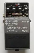 BOSS RV-3 Digital Reverb Delay Guitar Effects Pedal 1994 Pink Label #50