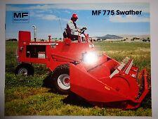 *Massey Ferguson Tractor Dealers MF 775 Swather Sales Brochure ad literature