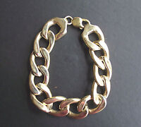 Men's 9ct Solid Gold  Cuban Link Curb Bracelet 20mm Fully Hallmarked 8.5 inch
