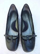 "Kenneth Cole Reaction ""KEEP GOING"" T Strap~ Leather~Black~ 8 1/2 M Shoes"