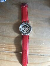 D&G Dolce Gabanna Unique Mens Watch - Red Leather Strap