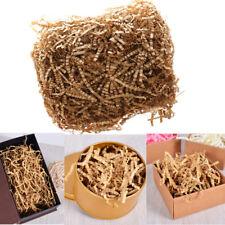 50G Natural Kraft Shredded Paper Crinkle Cut Gift Pack Box Hamper Filler Tissue