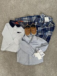 Baby Boy 3-6 months designer shirts + shoes bundle BNWT