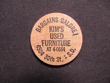 South Dakota Wooden Nickel token - Kim's Used Furniture Wooden Nickel Coin BLK