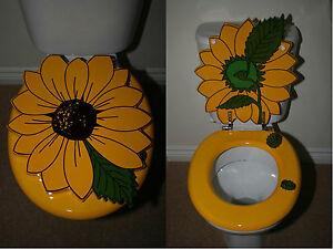 Designer Novelty Printed Toilet Seat - Sunflower Design