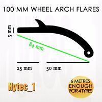 100MM FLEXIBLE SIDE FIT FLEXIRUBBER WHEEL ARCH FLARES  4WD UNIVERSAL 4 WHEELS