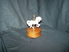 Carousel with Horse Music Box w/ Wood Base