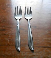 Nasco N.S.C.O. Stainless Flamingo Flatware Salad Forks x 2