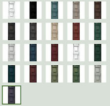 "Vinyl Shutters, Raised Panel Exterior, 43""-47"", Quality Lifetime Warranty"