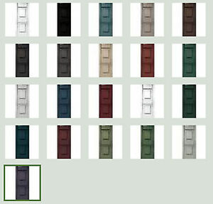 "Vinyl Shutters, Raised Panel Exterior, 51""-59"", Quality Lifetime Warranty"
