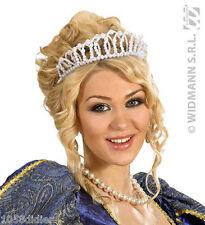 COURONNE de Perles PRINCESSE Déguisement Femme Fille Costume Reine Mariage NEUF