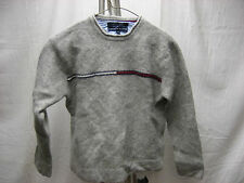 Tommy Hilfiger Was XL Shrunken Gray Grey Red White Long Sleeve Casual Sweater