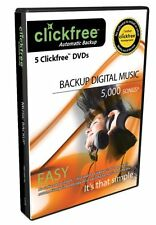 Clickfree 5 Backup DVD's Backup up to 5,000 Songs Automatically