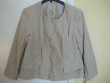 New Kasper Travel Perfect Khaki Zippered Jacket Size 20W