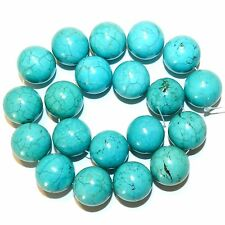 """NG2543f Blue-Green Turquoise 20mm Round Magnesite Gemstone Beads 15"""""""