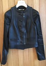 Striking Balenciaga 2009 Black Leather Jacket - Size 36, BNWT