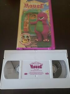 Barney Come on Over to Barneys House VHS WHITE TAPE EDUCATIONAL RETRO FREE SHIP