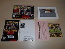 Ninja Gaiden Trilogy SNES Complete CIB Super Nintendo Game