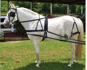Cob Horse Driving Harness - Cob/Small Horse - Black Nylon - Low Maintenance