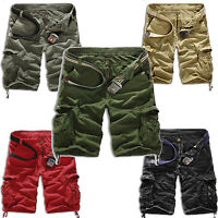 Men Summer Military Army Combat Trousers Tactical Work Pocket Camo Pants Cargo