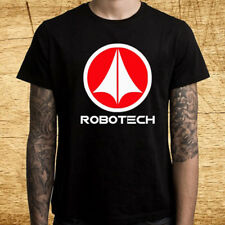 Robotech Cartoon Tv Series Logo Men's Black T-Shirt Size S M L Xl 2Xl 3Xl