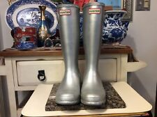 Hunter Original Short Rain Boots, Women's Size 4S/5G, Silver