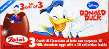 Disney Zaini Chocolate & 3D Surprise Toy 3 Eggs Donald Duck