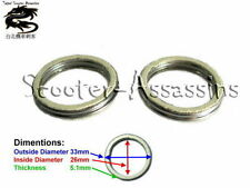2x EXHAUST GASKET for ADLY Cat 50, Fox 50, Jet 50