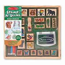 Melissa And Doug Rain Forest Stamp A Scene Set NEW Toys Kids