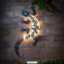 Solar Gecko Pared Arte al Aire Libre & Pantalla LED de iluminación interior Lagarto