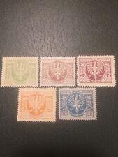 Poland Stamps 1923 No Gum Eagle on Large Shield (d,c)