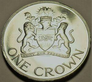 Malawi Couronne,1966 Preuve ~ Rare Seulement 20,000 Minted ~1st Day De Republic~