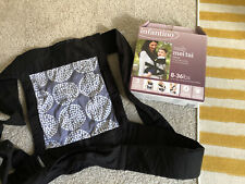 New Infantino Sash Wrap and Tie Mei Tai Carrier Black Blue And White - With Hood