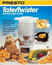 NEW Presto Tater Twister Electric Curly Cutter Potato Spiral Slicer Fries 02930