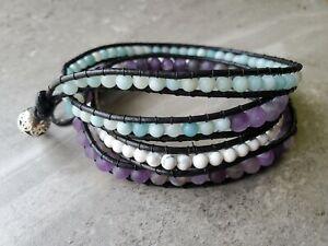 Bohemian Style Leather Wrap Bracelet