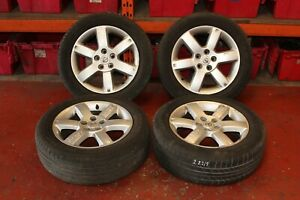 NISSAN X TRAIL T30 2.2 DCI 2005 ALLOY WHEELS AND TYRES SET 215/60R17