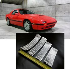 1987 1988 2ND GEN FC MAZDA RX7 TURBOCHARGED RX-7 TURBO II 2 DECALS STICKERS KIT