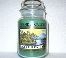"""Yankee Candle Retired """"OVER THE RIVER""""~Fresh ~ Large 22 oz ~WHITE LABEL~RARE~NEW"""