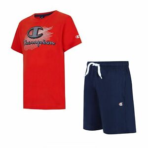 Champion Boy's T- Shirt/ Shorts Set Training Summer Fashion Casual Kid Clothing