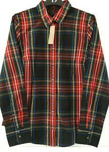 J Crew Ladies Tartan Cotton Stretch Shirt RRP £89  in sizes UK6, 8, 10 or 16