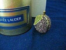 ESTEE LAUDER 1998 PURPLE CRYSTAL PLUM SOLID PERFUME