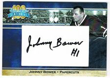 2017 President's Choice Blue and White Centennial series autograph Johnny Bower