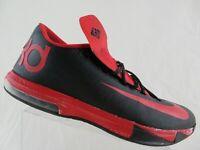 NIKE ID KD VI 6 Black/Red Sz 14 Men Basketball Shoes