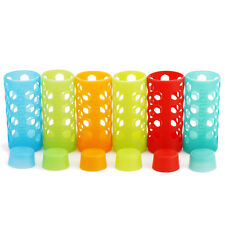Aquasana Silicone Sleeves and Caps for 18-Ounce Glass Bottles, Rainbow 6-Pack