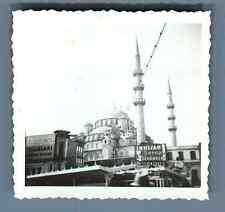 Turquie, Istanbul, Mosquée Bleu  Vintage silver print. Vintage Turkey. Tirag